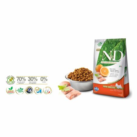 N&D GRAIN FREE CANINE - PESCADO Y NARANJA ADULT MINI