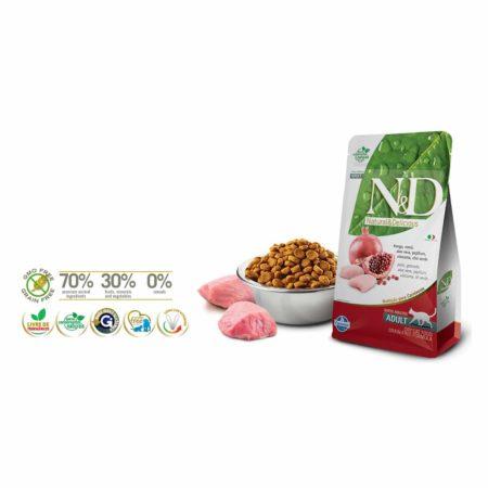 N&D GRAIN FREE FELINE - POLLO Y GRANADA