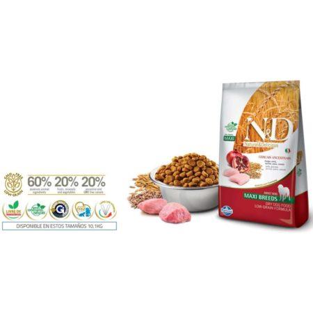 N&D Ancestral Grain Canine - POLLO Y GRANADA ADULTO MAXI