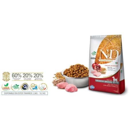 N&D Ancestral Grain Canine - POLLO Y GRANADA ADULTO MEDIUM