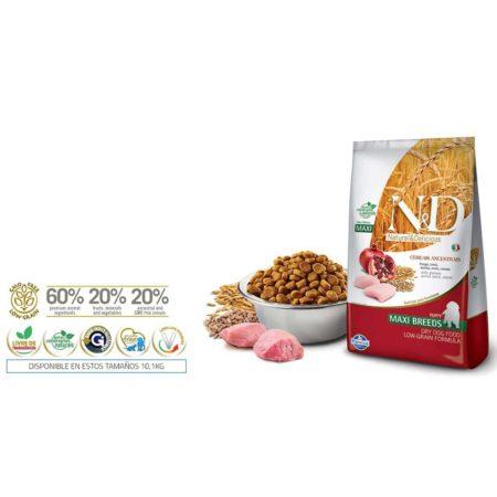 N&D Ancestral Grain Canine - POLLO Y GRANADA PUPPY MAXI