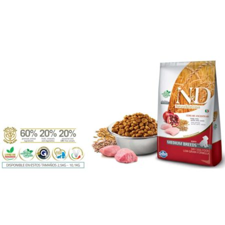 N&D Ancestral Grain Canine - POLLO Y GRANADA PUPPY MEDIUM
