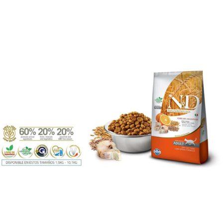 N&D Ancestral Grain Feline - PESCADO Y NARANJA