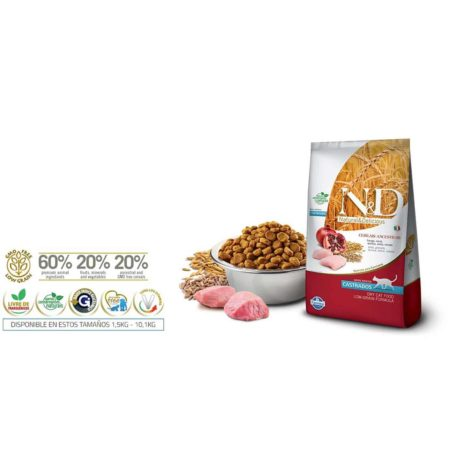 N&D Ancestral Grain Feline - POLLO Y GRANADA