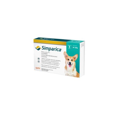 Simparica 40 mg - 10 a 20 KG - Antiparasitario Externo