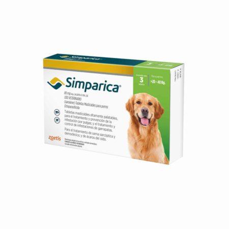 Simparica 80 mg - 20 a 40 KG - Antiparasitario Externo
