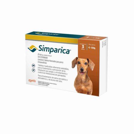 Simparica 20 mg - 5 a 10 KG - Antiparasitario Externo