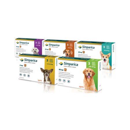 Simparica x 3 comprimidos - Antiparasitario Externo