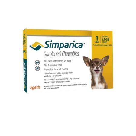 Simparica 5 mg - 1.3 a 2.5 KG - Antiparasitario Externo